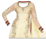 Light Golden Chiffon Suit- Indian Semi Party Dress