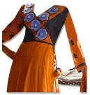 Orange/Black Chiffon Suit- Indian Dress