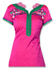 Shocking Pink/Green Georgette Suit