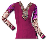 Magenta/Black Georgette Suit