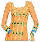 Orange Chiffon Suit- Indian Semi Party Dress