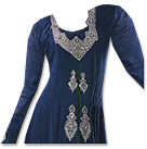 Blue/Green Georgette Suit- Indian Semi Party Dress