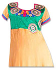 Yellow/Green Georgette Suit- Indian Semi Party Dress
