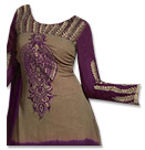 Beige/Indigo Chiffon Suit- Indian Dress