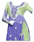 Blueberry/Light Green Chiffon Suit - Indian Dress