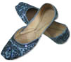 Ladies khussa- Metal Grey- Khussa Shoes for Women