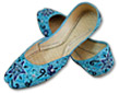 Ladies Khussa- Turquoise- Pakistani Khussa Shoes