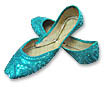 Ladies khussa- Teal Green