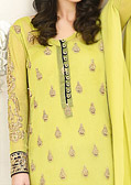Lime Green Chiffon Suit