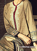 Beige Cotton Karandi Suit- winter dress