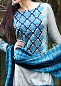 Blue/Silver Cambric Suit - Cotton dress