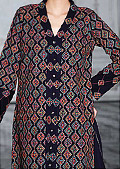 Black Cotton Karandi Suit- winter wear