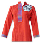 Red/Black Linen Suit- Pakistani Casual Clothes