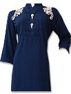 Blue Cotton Shirt- Pakistani shalwar dress