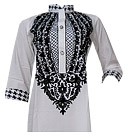 White Cotton Shirt- Pakistani Casual Dress