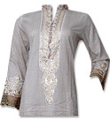 Off-white Cotton Shirt- Pakistani Casual Clothes