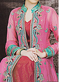 Pink Crinkle Chiffon Suit- Designer dress