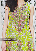 Green Crinkle Chiffon Suit- Pakistani designer dress