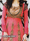 Pink Crinkle Chiffon Suit- Indian Designer clothes