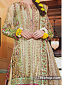 Light Green Crinkle Chiffon Suit- Pakistani Bridal Dress