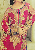 Shocking Pink Crinkle Chiffon Suit- Indian Designer clothes