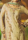 Light Golden Crinkle Chiffon Suit- Pakistani Formal Designer Dress
