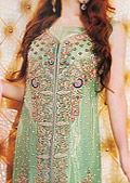 Light Green Crinkle Chiffon Suit- Pakistani Party Wear Dress