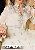 White Jamawar Chiffon Suit- Pakistani Party Wear Dress