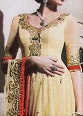 Light Golden Crinkle Chiffon Suit