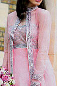 Baby Pink Crinkle Chiffon Suit- Pakistani Formal Designer Dress