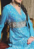 Turquoise Jamawar Chiffon Suit