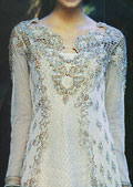 Sky Blue Net Suit- Pakistani Formal Designer Dress