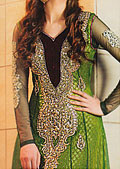 Green Crinkle Chiffon Suit