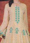 Ivory Crinkle Chiffon Suit- Indian Designer clothes