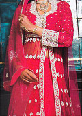 Hot Pink Crinkle Chiffon Suit- Pakistani Party Wear Dress