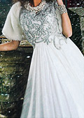 White Crinkle Chiffon Suit- Designer dress