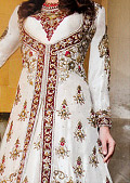 White Crinkle Chiffon Suit- Indian Designer clothes