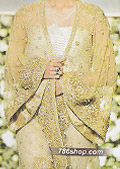 Golden Crinkle Chiffon Suit- Designer dress
