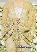 Golden Crinkle Chiffon Suit- Pakistani Formal Designer Dress