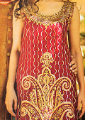 Maroon/Black Crinkle Chiffon Suit- Pakistani Bridal Dress