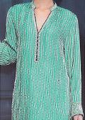 Sea Green Crinkle Chiffon Suit- Pakistani Formal Designer Dress