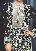 Black Crinkle Chiffon Suit- Indian Designer clothes