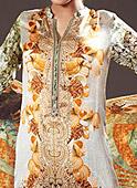 Off-white Digital Silk Suit- Pakistani winter dress
