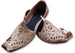 Gents Khussa- Light Golden- Khussa Shoes for Men