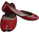 Ladies Khussa- Red- Khussa Shoes for Women