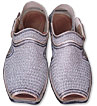 Gents Chappal- Silver- Pakistani Khussa for Men