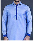 Light Blue Men Shalwar Kameez