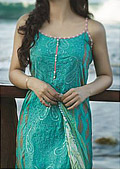 Sea Green Cotton Lawn Suit- Cotton dress