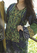Dark Grey Cotton Lawn Suit- Pakistani Lawn