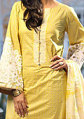 Yellow Cotton Lawn Suit